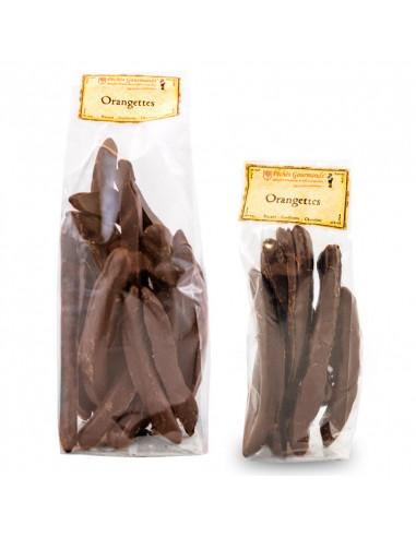 Orangettes confites au Chocolat noir...